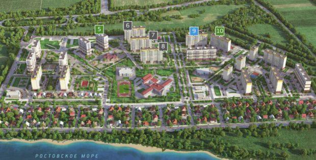 Схема районов и участков ЖК Платовский