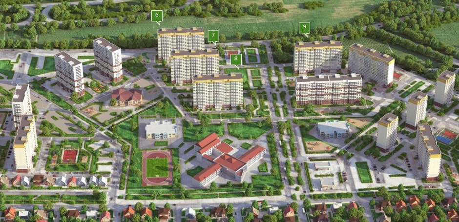 Карта коммерческой недвижимости ЖК Платовского