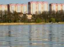 Вид на Ростовское море и ЖК Платовский