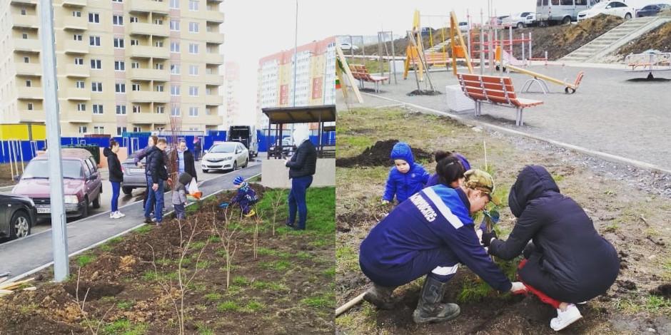 День древонасаждения в ЖК Платовский от апреля 2021 года